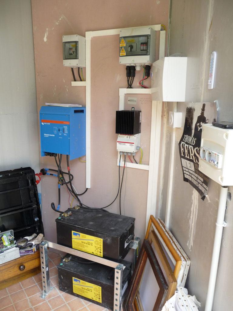 installation de production d'electricite photovoltaïque autonome en site isole