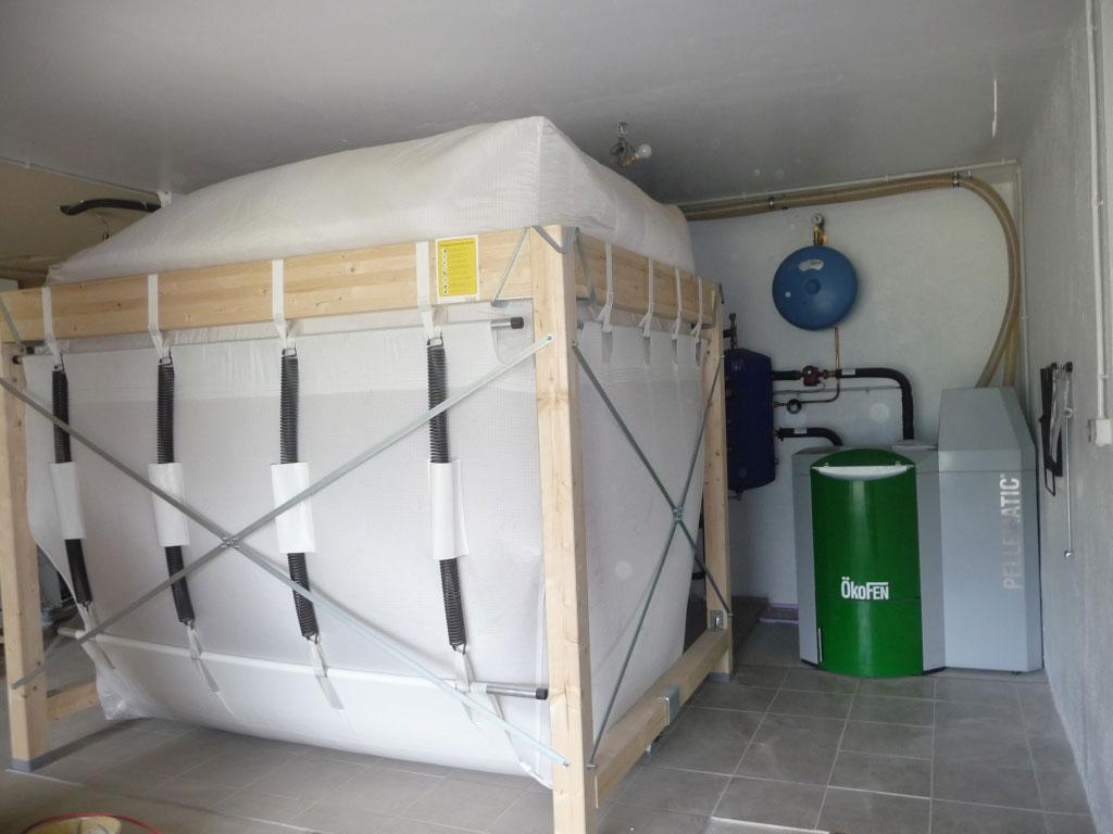 installation d'une chaudière à granules de bois OKOFEN PES20 alimentation par aspiration Flexilo compact