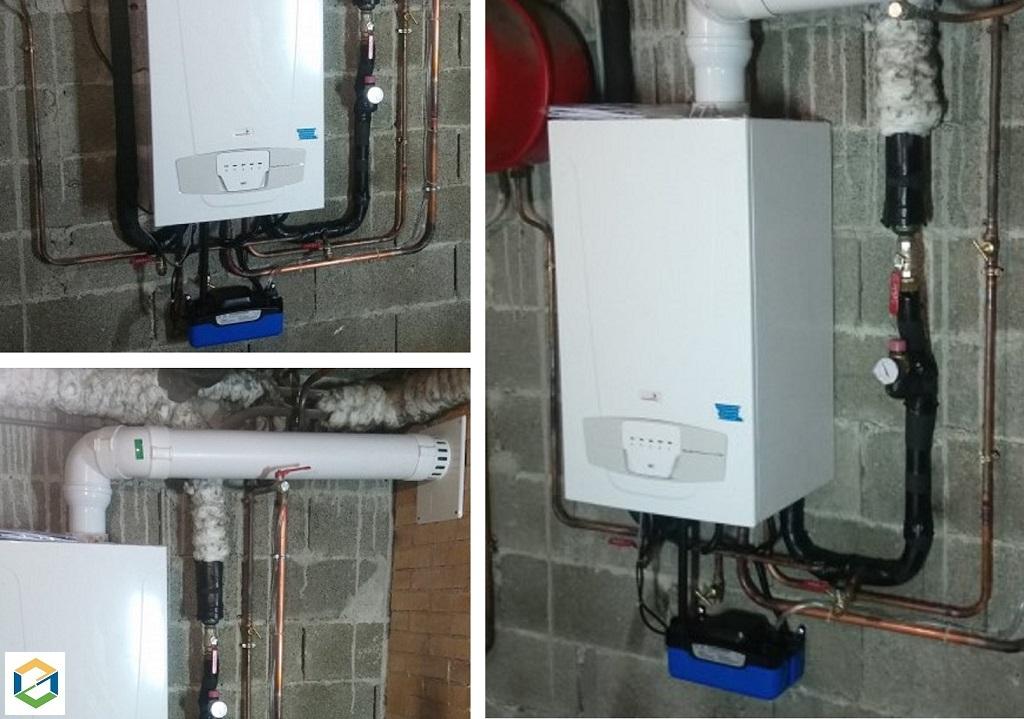 Installation et raccordement d'une chaudière gaz à condensation CHAPPEE