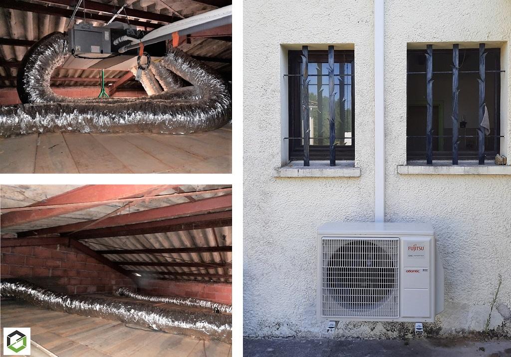 Installation d'une climatisation réversible gainable ATLANTIC - Entreprise RGE QualiPac