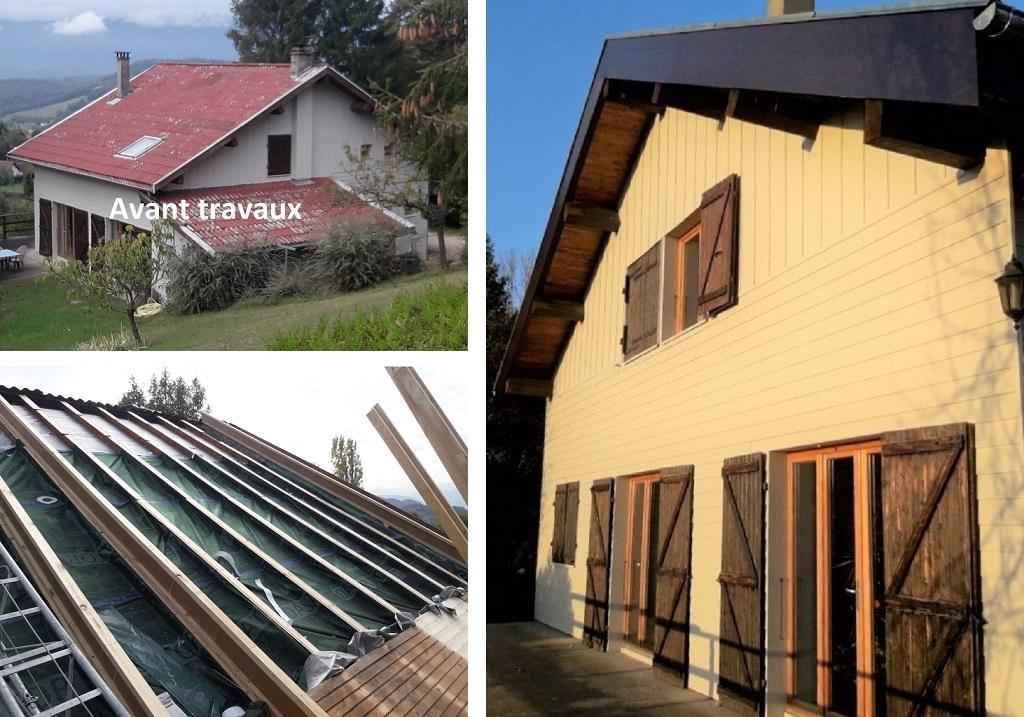 Isolation de toiture par l'extérieure et changement de couverture