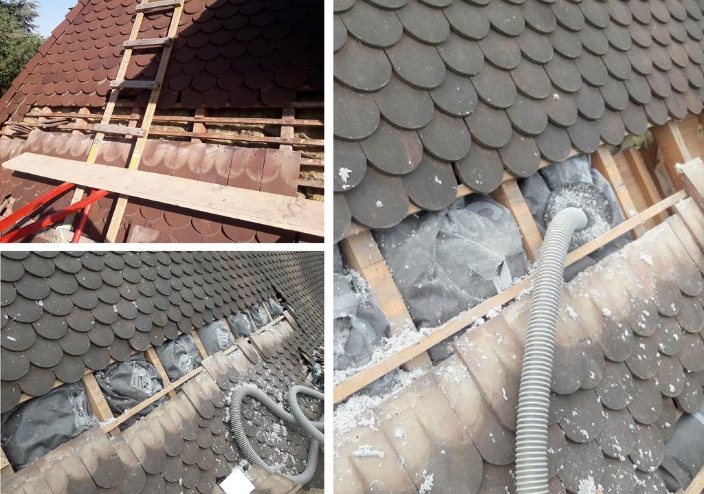 Isolation exterieure d'une maison en pisé avec de la fibre de bois - pont de beauvoisin - isère ...