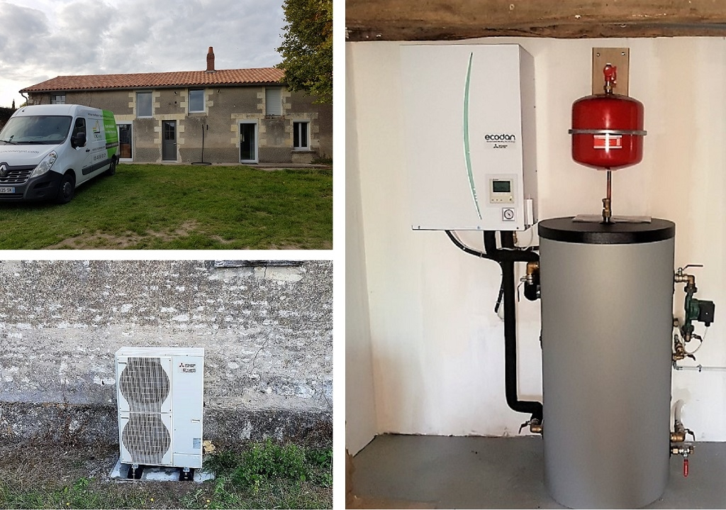 Pompe à chaleur, sur radiateur basse température-Indre et Loire (37)