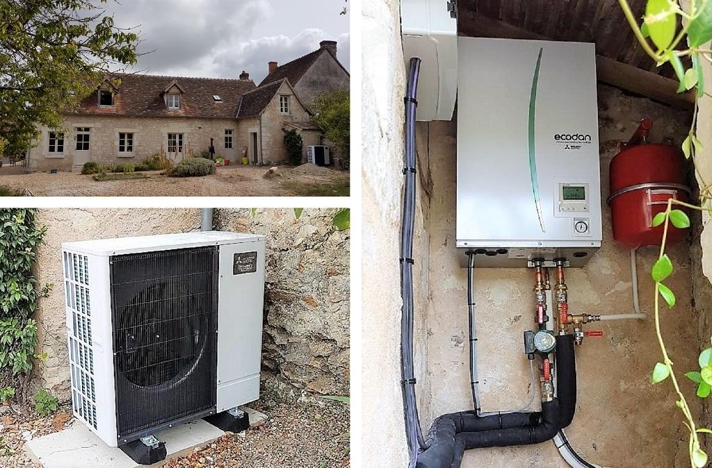 Pompe à chaleur Silence + sur plancher chauffant liège-Indre et Loire (37)