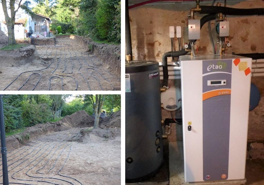 Géothermie Horizontale sur radiateurs Capteur enterré Eau Glycolée dans le 37 par CNC Energie-Vienne (86)