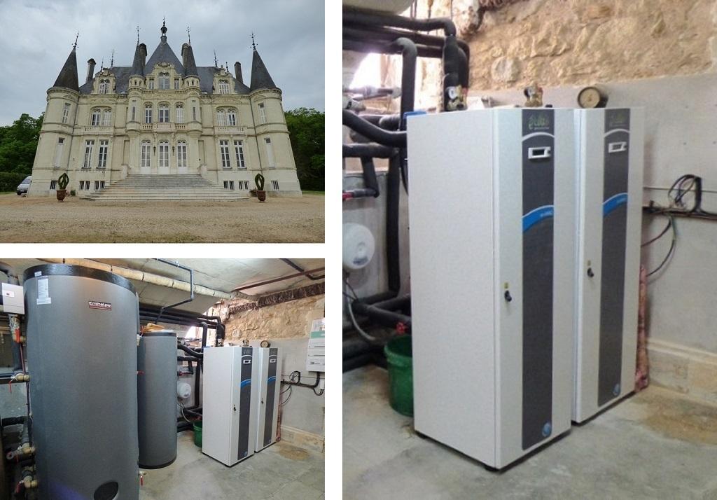 Géothermie sur radiateurs fonte, par CNC Energie-Vienne (86)