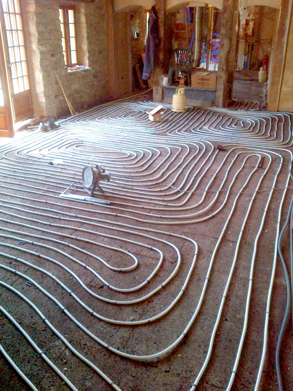 plancher chauffant oventrop sur isolant liège
