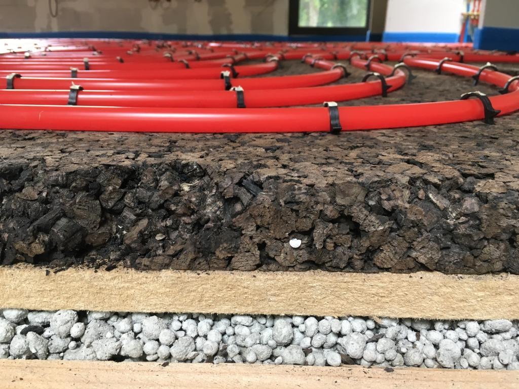 Plancher chauffant avec isolant 100% écologique