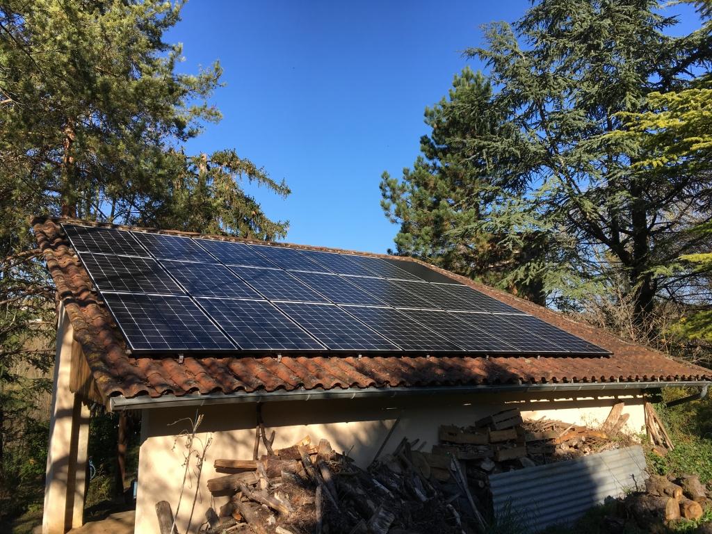 Installation photovoltaïque avec batterie