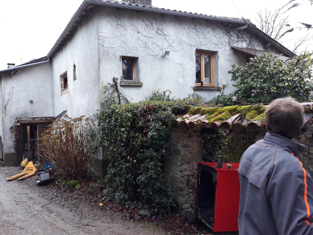 Chaudière à granulés de bois automatique de type PELLEMATIC COMPACT ÖKOFEN à Saint Perdoux - Lot - 46