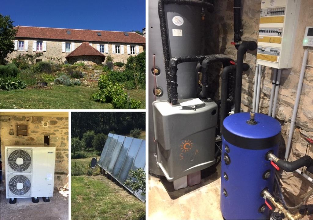 Installation chauffage solaire SSC SolisArt avec appoint pompe à chaleur