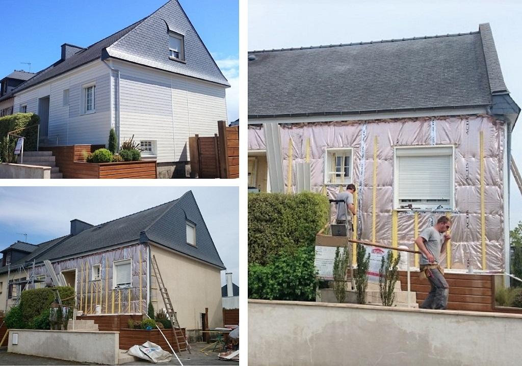 isolation Thermique par l'extérieur - Bardage Résine - Ravalement des façades - RGE Qualibat