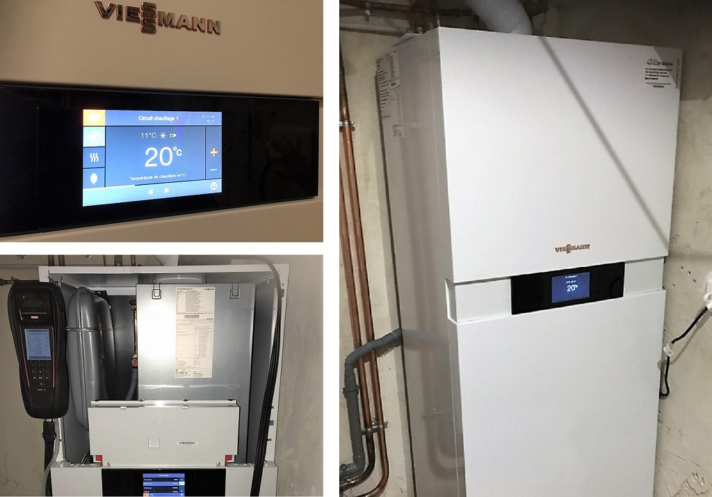 Chaudière condensation gaz Viessmann Vitodens 222-F - Sarlat la Canéda - Dordogne - 24