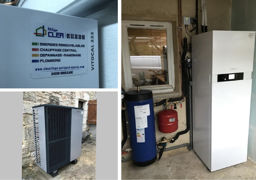 Pompe à chaleur air/eau - Viessmann Vitocal 222-S - Gourdon - Lot - 46