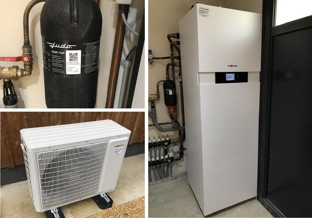 Installation pompe à chaleur air/eau VIESSMANN