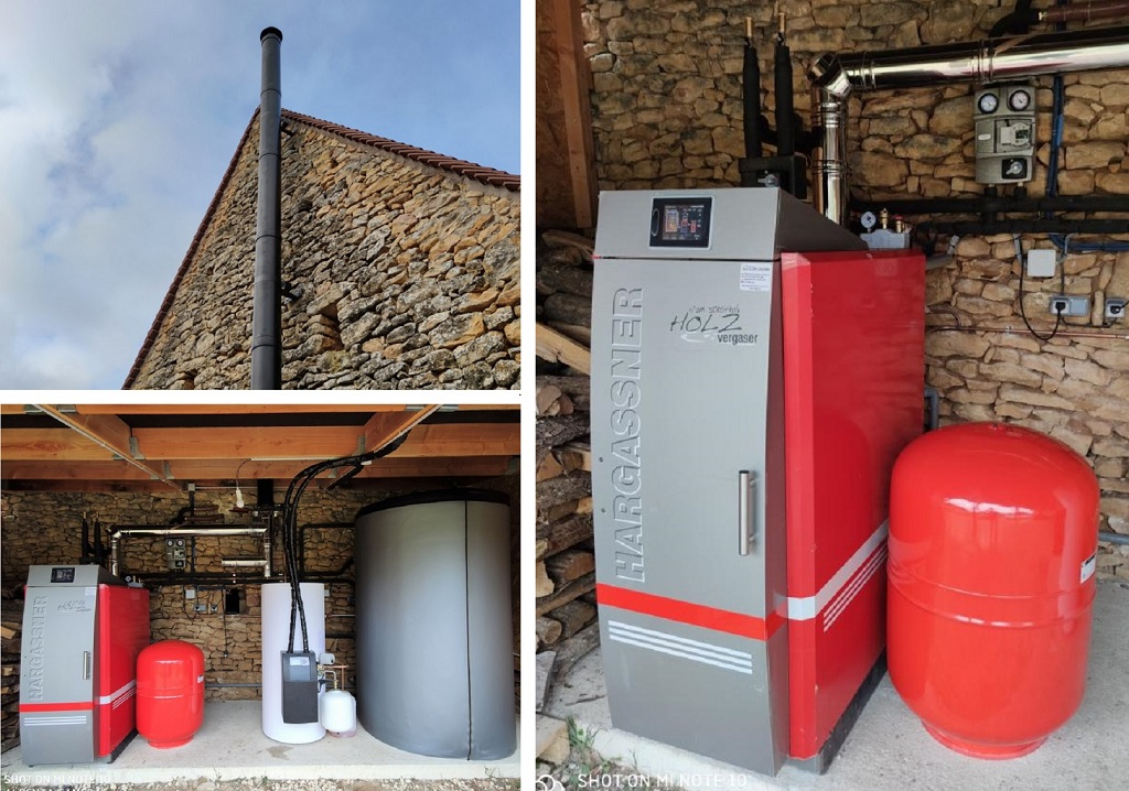 Installation d'une chaudière Buche HARGASSNER Hv-Dordogne (24)