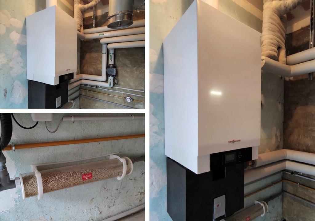 Installation chaudière gaz condensation Viessmann Vitodens 200-W