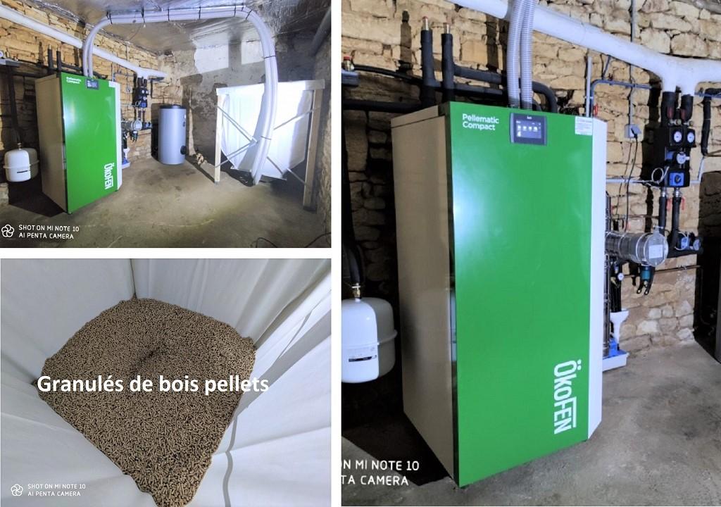 Installation chaudière granulé de bois Okofen-Dordogne (24)
