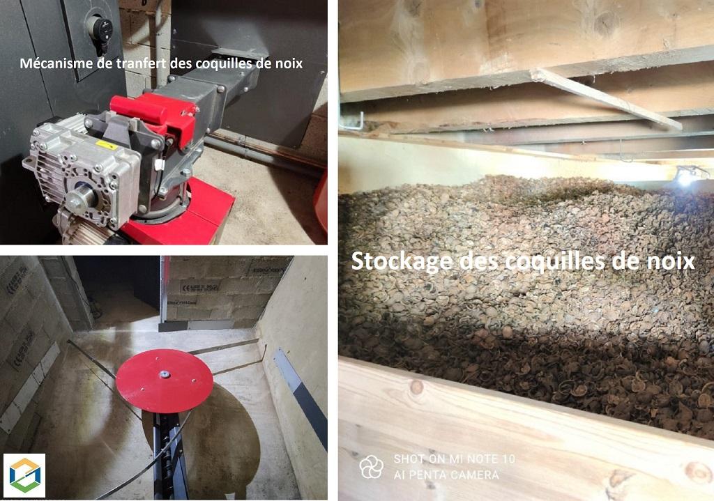 Installation d'un silo à bois déchiqueté Hargassner