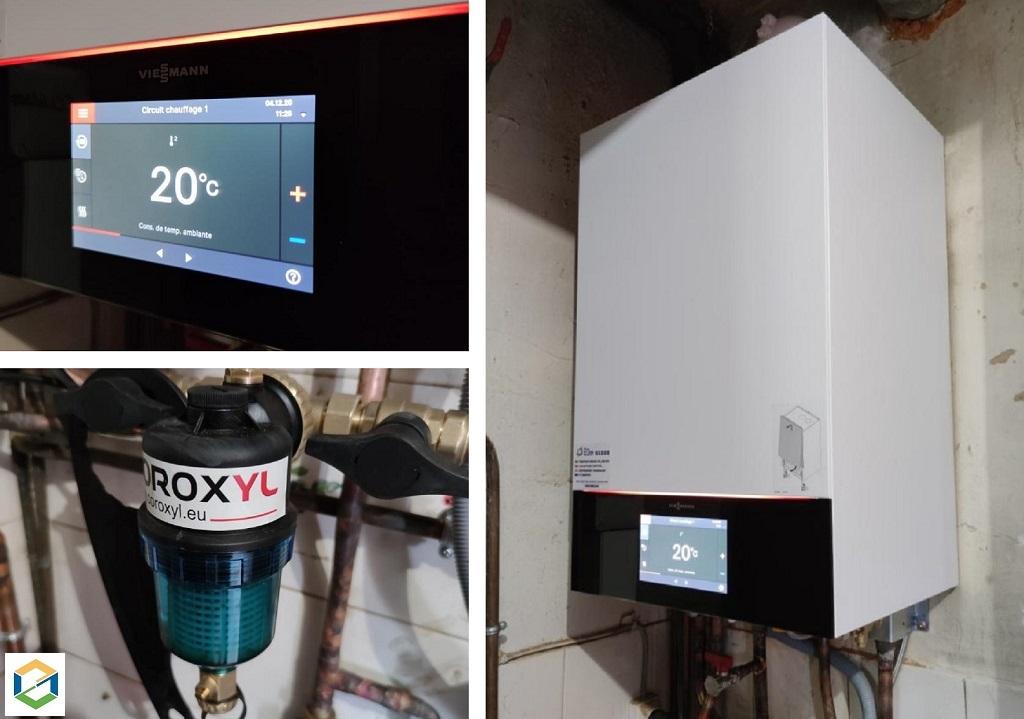Installation chaudière gaz condensation - VIESSMANN Vitodens 200-W-Dordogne (24)