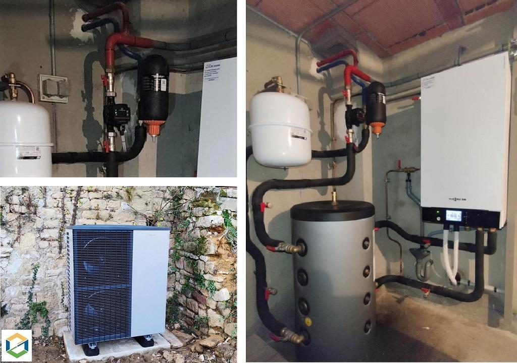 Installation pompe à chaleur air/eau - Viessmann Vitocal 200-S