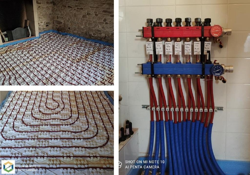 Installation d'un plancher chauffant basse température Réhau-Dordogne (24)