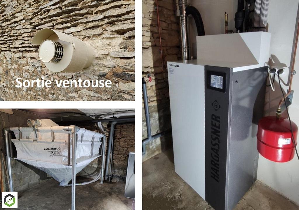 Installation chaudière granulé de bois HARGASSNER-Dordogne (24)
