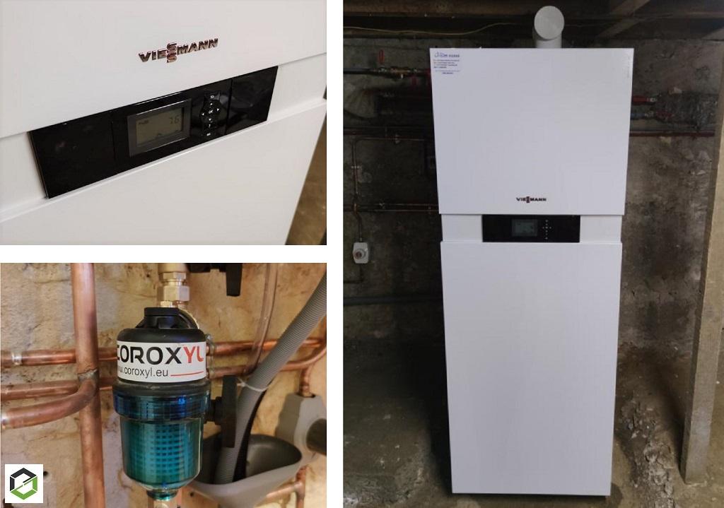 Installation chaudière gaz condensation Viessmann Vitodens 111-F -Lot (46)
