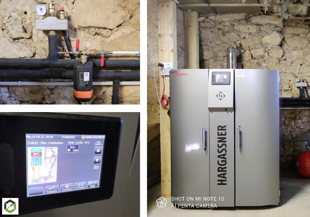 Installation chaudière granulé de bois HARGASSNER-Lot (46)