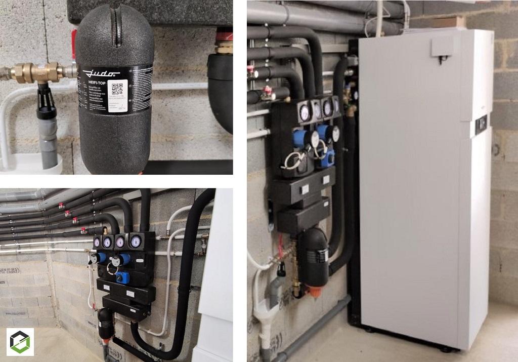 Installation pompe à chaleur air/eau - Viessmann Vitocal 222-S