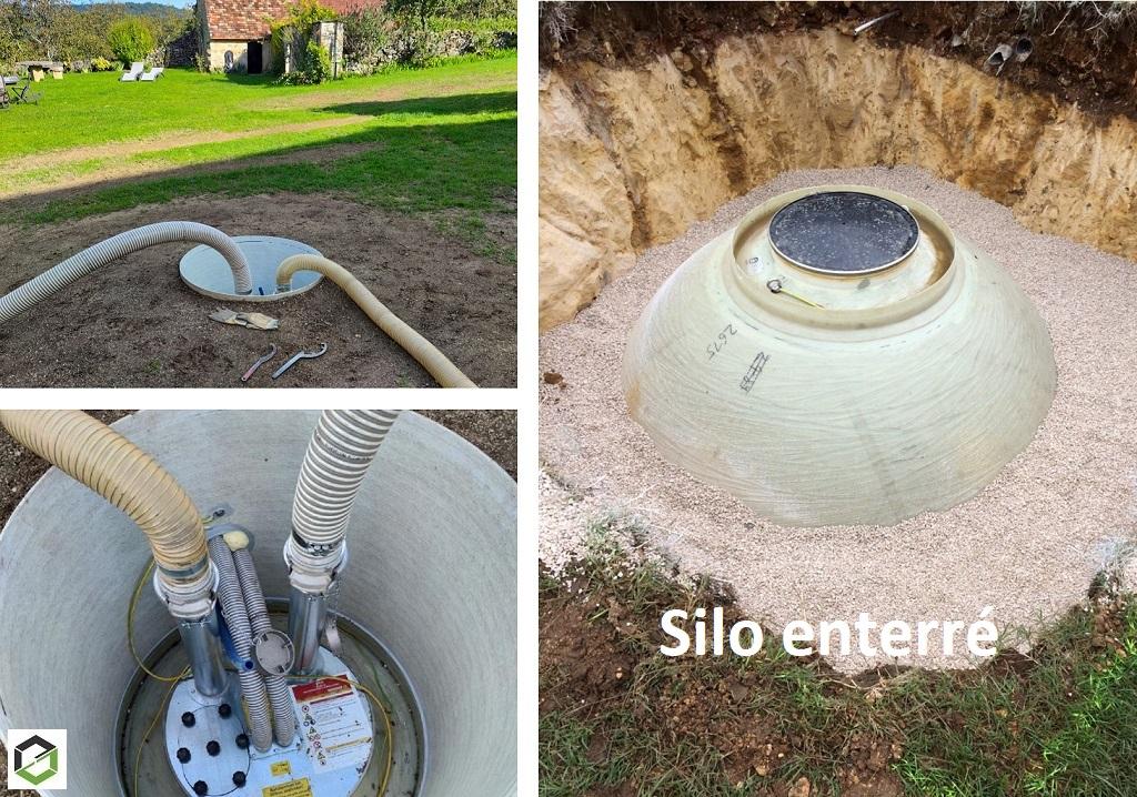 Silo à granulé enterré -Dordogne (24)