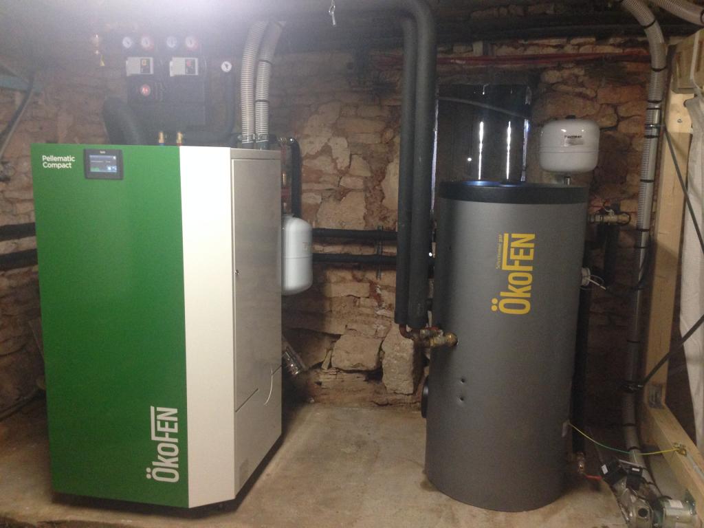 Chaudière à granulés de bois OKOFEN Pellematic Compact et production d'eau chaude-Lot (46)