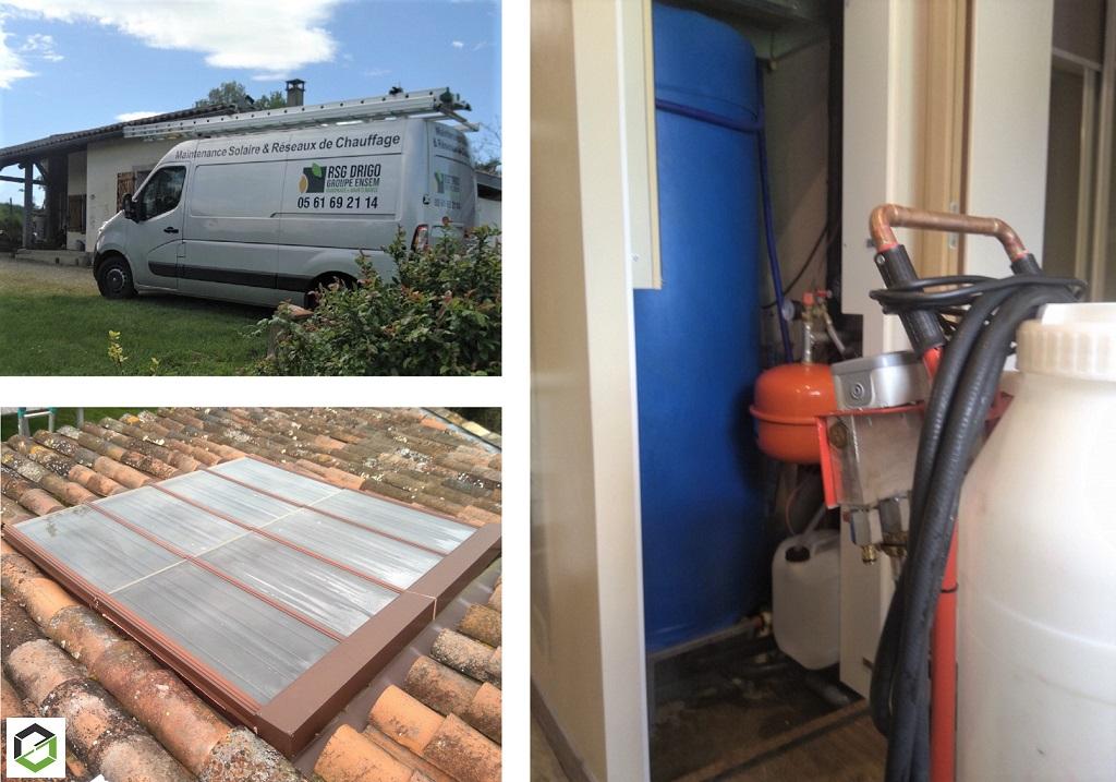 Dépanner mon chauffe-eau solaire CLIPSOL par RSG DRIGO groupe Ensem