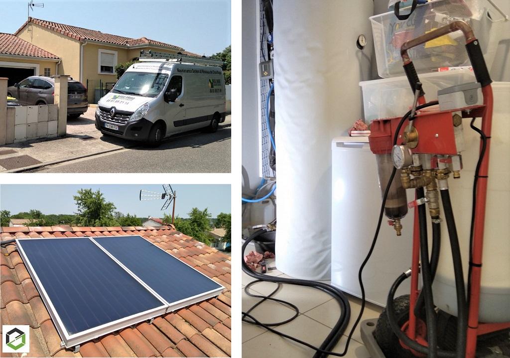 Dépannage et entretien Chauffe eau solaire WAGNER & CO par RSG DRIGO groupe Ensem