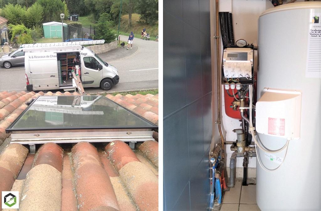 Entretien chauffe-eau solaire ATLANTIC 190 litres 1 capteur
