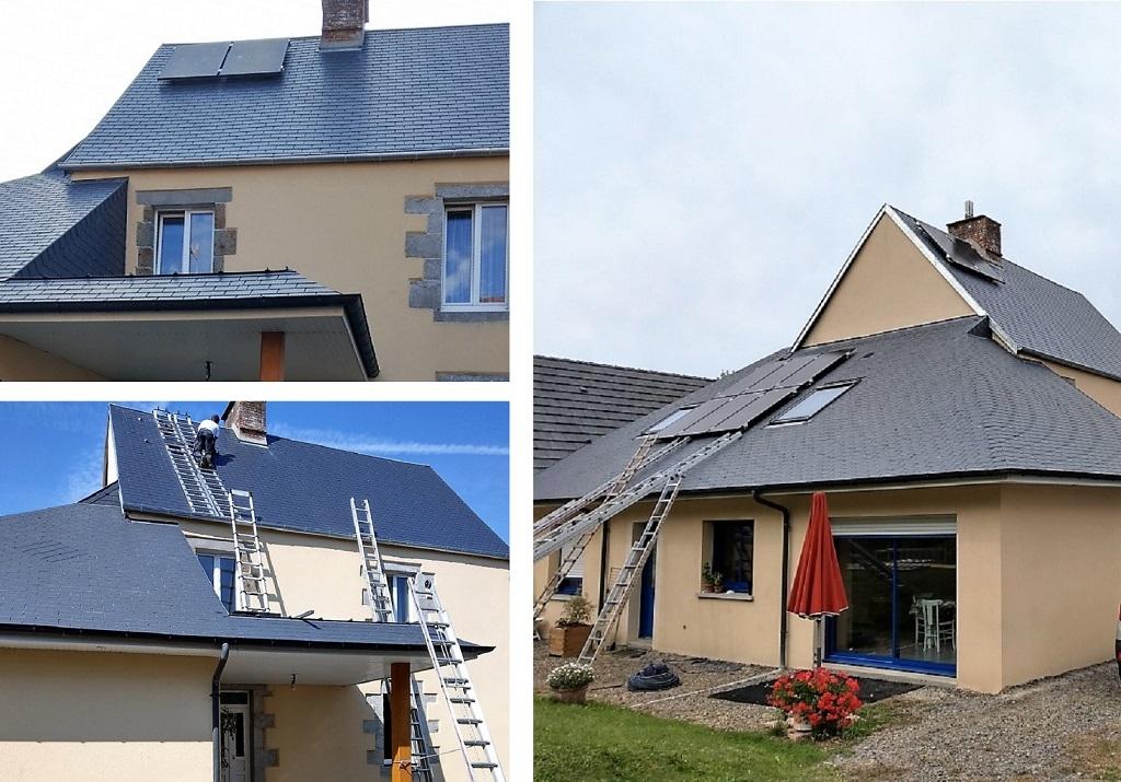 Installation panneaux solaires photovoltaiques en auto consommation sur maison de particulier-Manche (50)