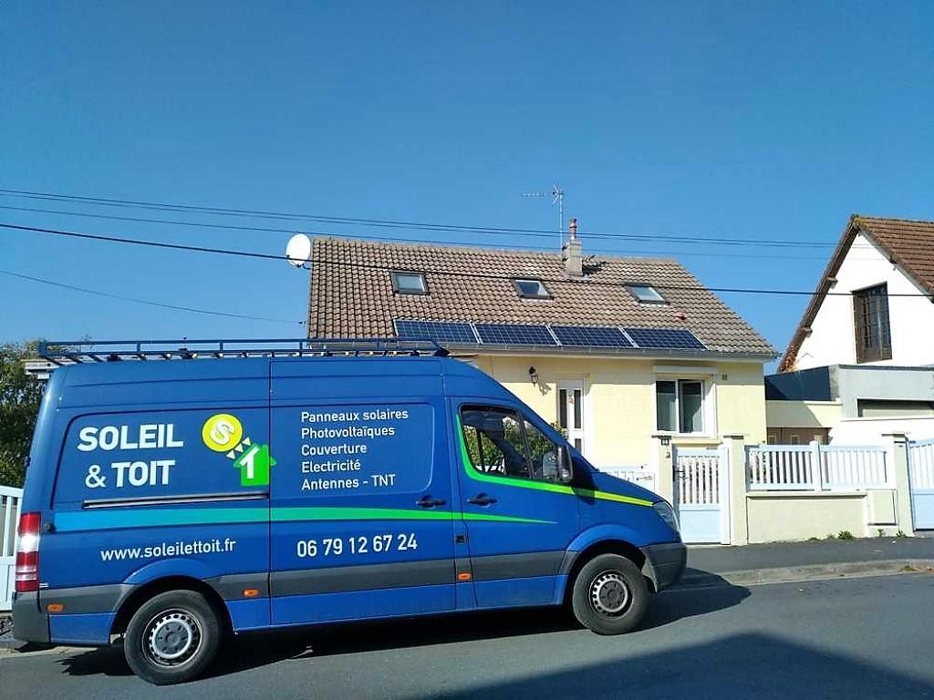 Installation panneaux solaires photovoltaiques en auto consommation sur maison de particulier-Calvados (14)