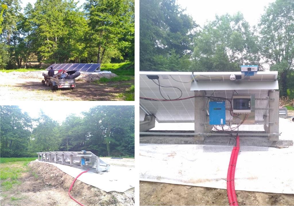 Realisation d'un pompage isolé grâce à des panneaux solaires photovoltaiques-Calvados (14)