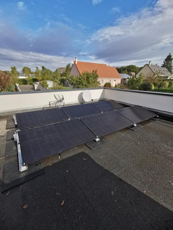 Installation photovoltaïque toit plat 6kw