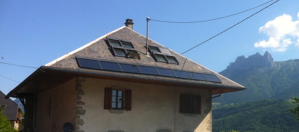 Installation chauffage solaire -SSC-SOLISART SC2 avec foyer poêle hydro bouilleur HOXTER