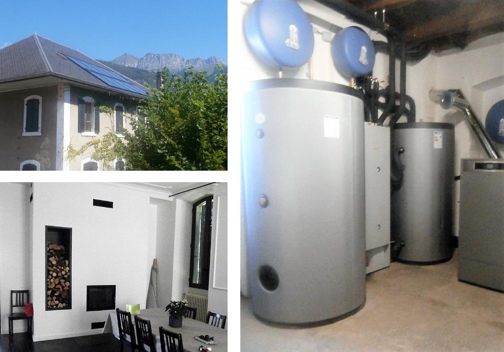 Installation panneaux solaires thermiques -SSC-SOLISART avec foyer bouilleur HOXTER et DOMUSA