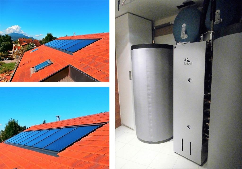 Installation de panneaux solaires thermiques - SSC - SOLISART