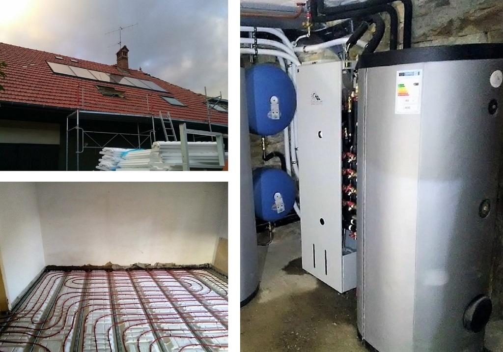 Installation panneaux solaires thermiques - SSC - SOLISART avec foyer bouilleur HOXTER