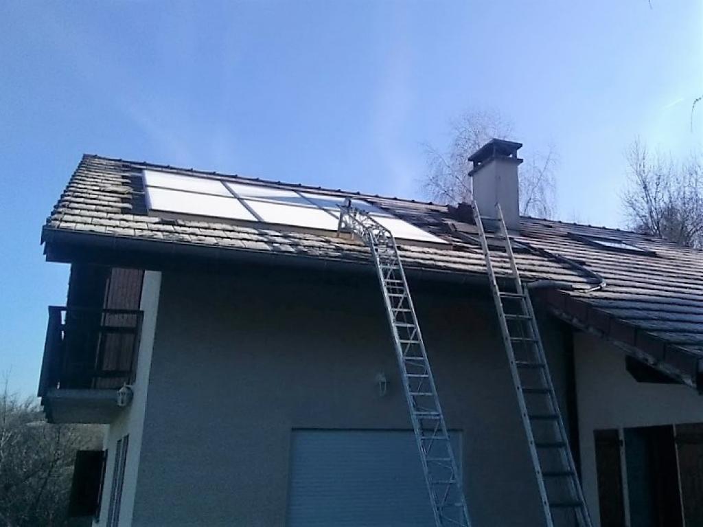 Installation panneaux solaires thermiques - SSC - SOLISART avec chaudière DOMUSA