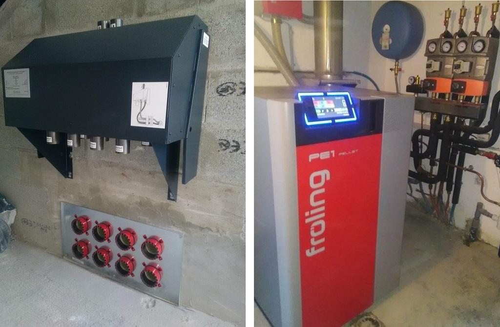 Installation chaudière granulés de bois FROLING PE1 15 à système d'aspiration avec 4 sondes RS 4-Haute Savoie (74)