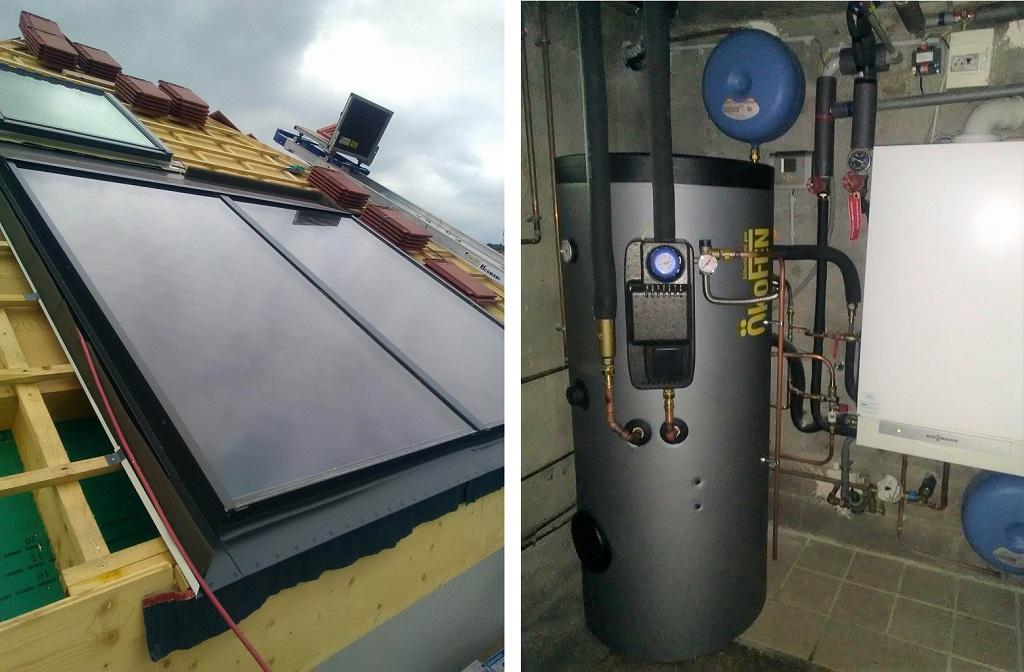 Installation chauffe eau solaire individuel (CESI) avec ballon  300 Litres