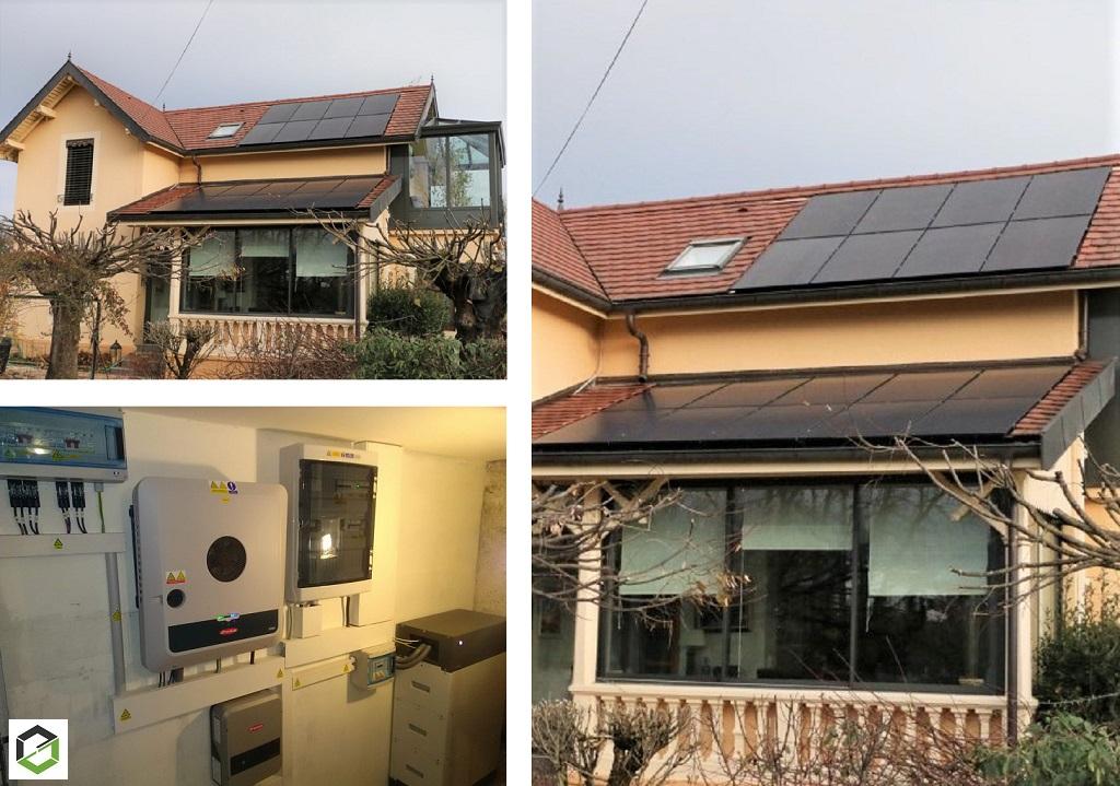 Installation panneaux solaire photovoltaique 6.70 kWc auto consommation avec vente surplus, batterie BYD, Ohmpilot et découplage réseau