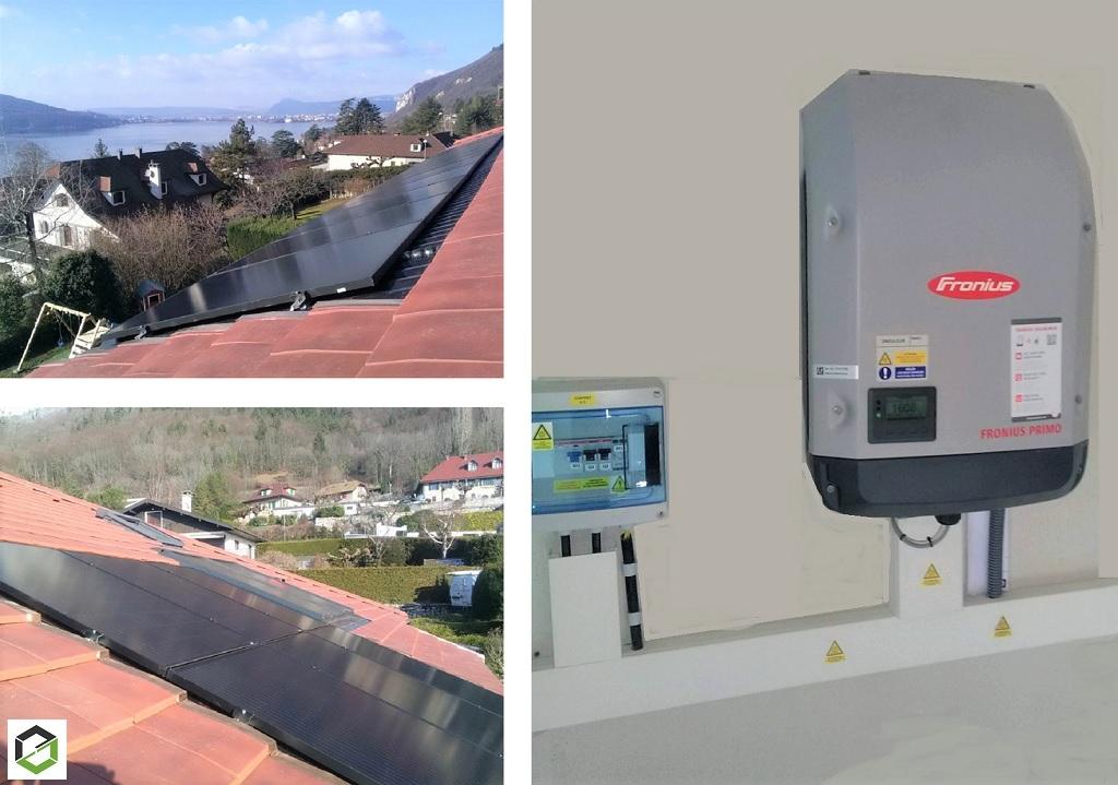 Installation panneaux solaire photovoltaique 5.94 kWc auto consommation avec vente surplus
