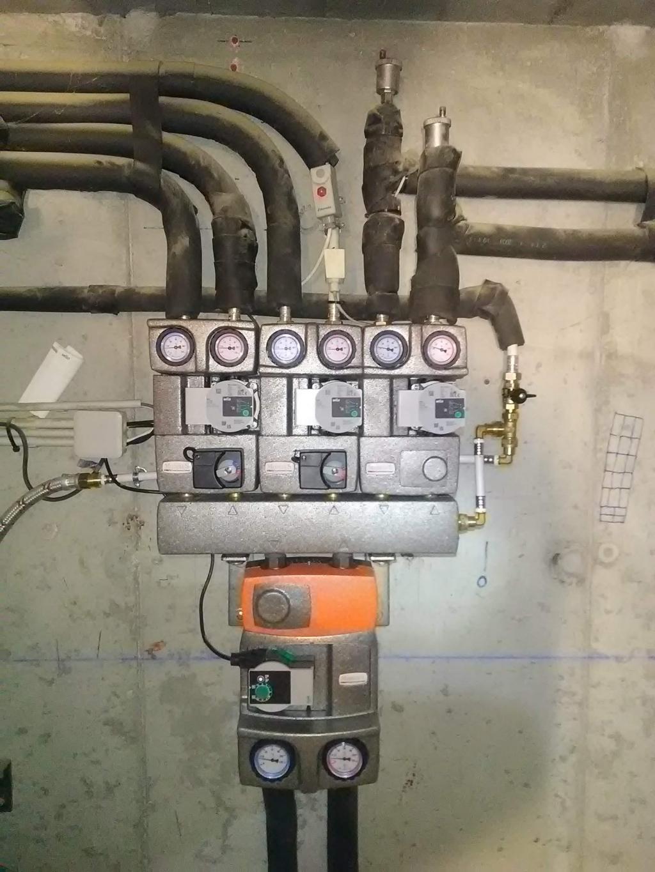Réparation Circuit hydraulique de chauffage central avec fuites - changement collecteur et modules-Haute Savoie (74)