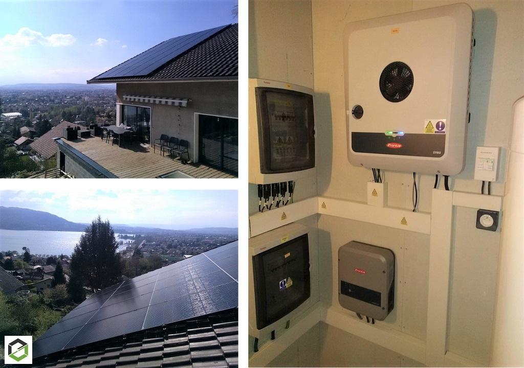 Installation panneaux solaire photovoltaique 8.25 kWc auto consommation avec vente surplus-Haute Savoie (74)